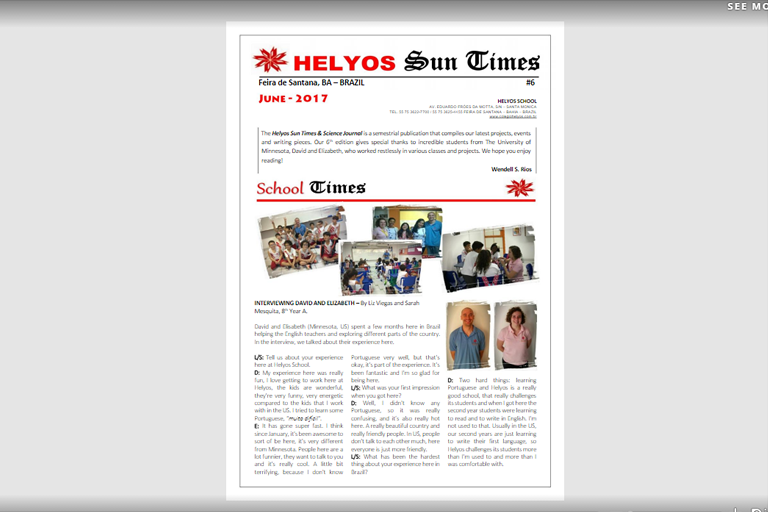 Helyos Sun Times and Science  Journal #6